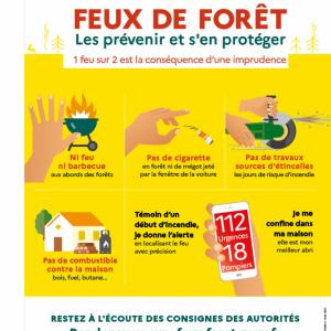 """le département de la Charente-Maritime est placé au niveau """" Risque très sévère """" du plan de vigilance #FeuxDeForêt"""