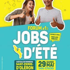 Ne manquez pas le 1er « Forum Jobs d'été » sur l'île d'Oléron Samedi 29 mai 2021 : à vos CVs !