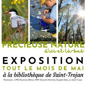 """Bibliothèque : Exposition """"Précieuse nature d'ici et là-bas"""" tout le mois de mai"""